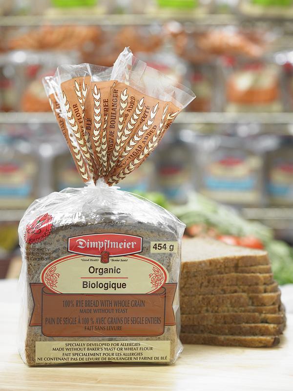 100% Organic Rye with Whole Grain 1lb